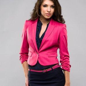 {Mexx} hot pink cropped blazer, sz S